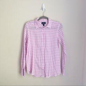 J Crew Boy Shirt in Pink Gingham